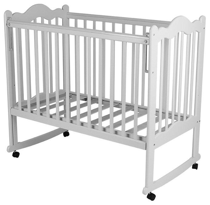 Кроватка Счастливый малыш Дюймовочка 003 (колесо, качалка)