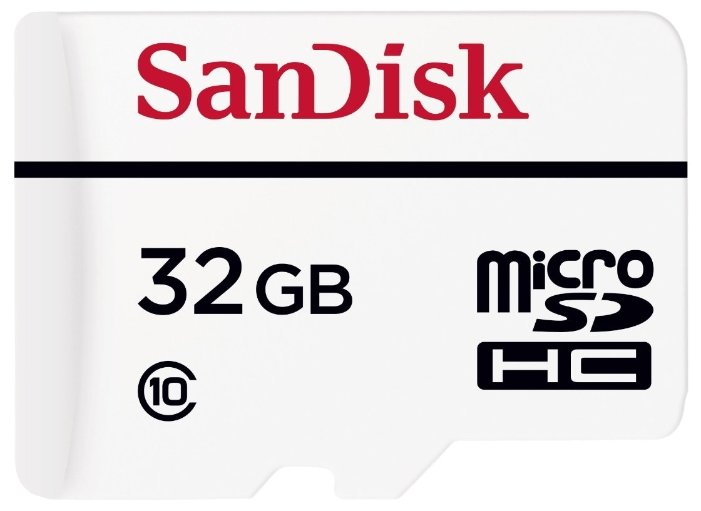 SanDisk Карта памяти SanDisk High Endurance microSDHC Class 10 + SD adapter