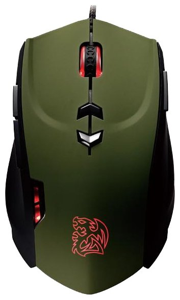 Tt eSPORTS by Thermaltake Theron Gaming Mouse Black-Green USB