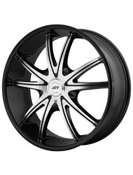 American Racing 8,5x20/5x114,3*5x120 ET38 D74,1 AR897 Black/Machined - фото 1