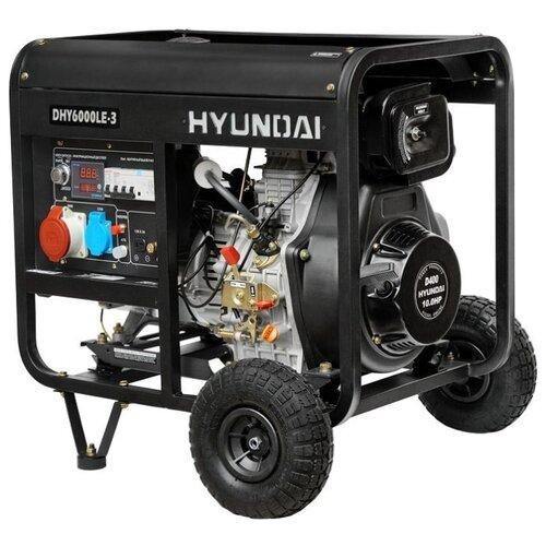 Дизельный генератор Hyundai DHY-6000 LE-3 (5000 Вт) дизельный генератор hyundai dhy 8000se