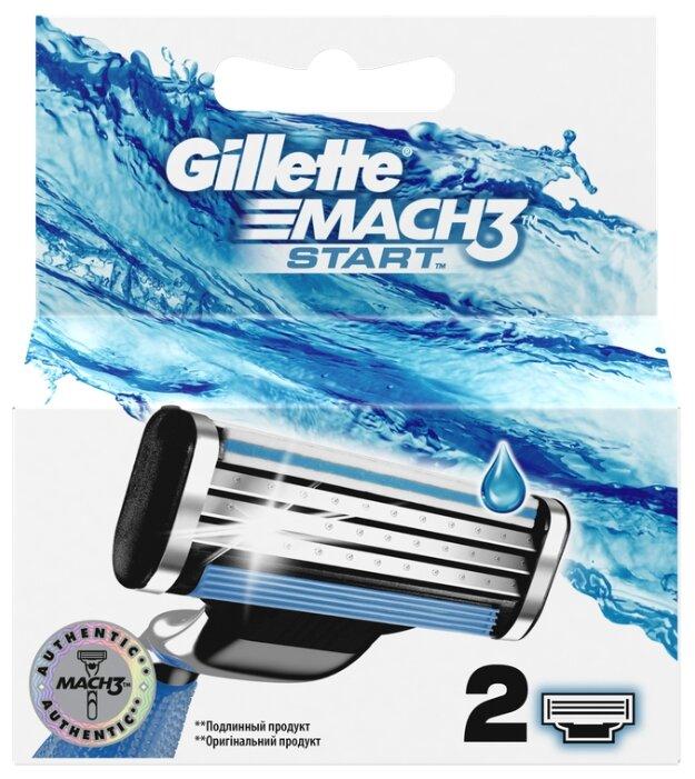 Сменные лезвия Gillette Mach 3 Start