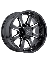 Диск Black Rhino Sierra Gloss Black With Milled Spokes 9x18/8x165 D120 ET-12 - фото 1