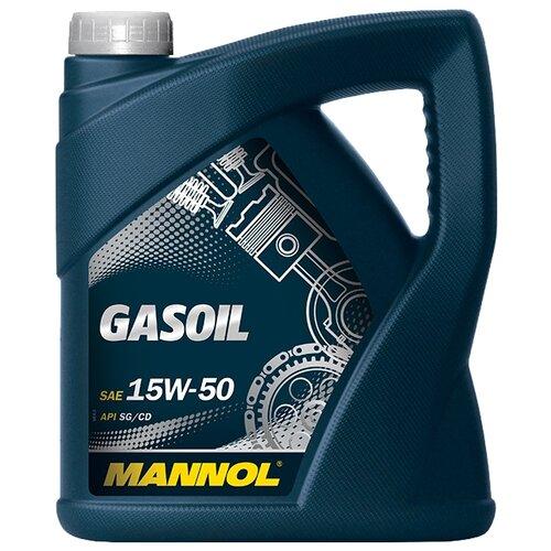 Фото - Минеральное моторное масло Mannol Gasoil 15W-50 4 л минеральное моторное масло mannol diesel 15w 40 7 л