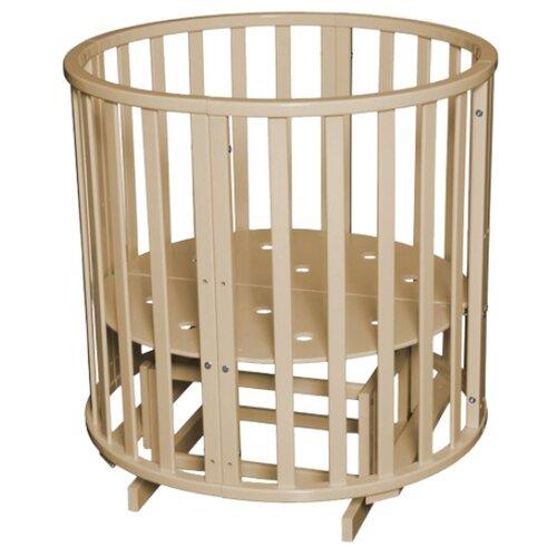 Купить Кроватка Антел Северянка 3 колесо (трансформер), поперечный маятник слоновая кость, Кроватки