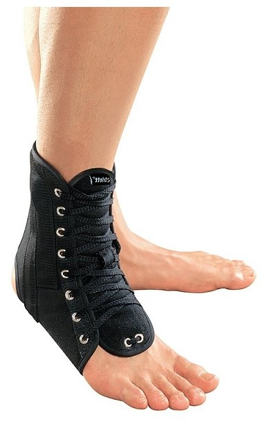 LAB 201. Ортез на голеностопный сустав с ребрами жесткости и шнуровкой ,разм.S Orlett. Орлетт. LAB 201