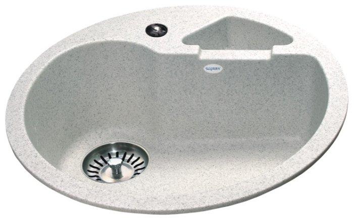 Врезная кухонная мойка Ulgran U-108 50.5х50.5см искусственный мрамор