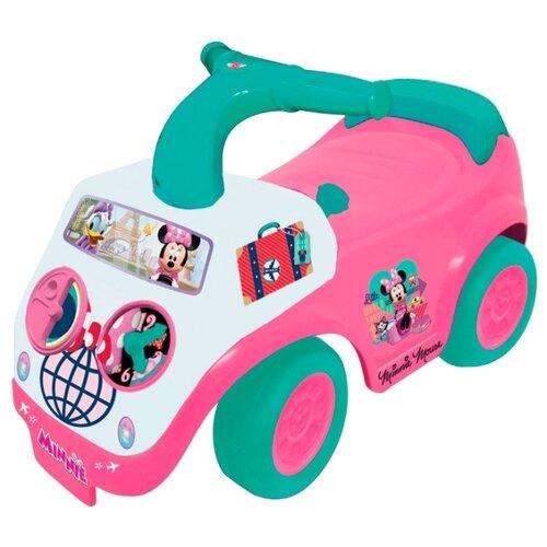 Каталка-толокар Kiddieland Минни (055046) со звуковыми эффектами розовый/белый/зеленый, Каталки и качалки  - купить со скидкой