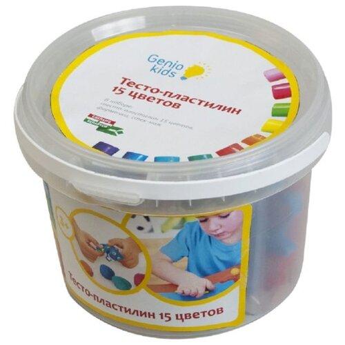 Купить Масса для лепки Genio Kids 15 цветов (TA1066), Пластилин и масса для лепки