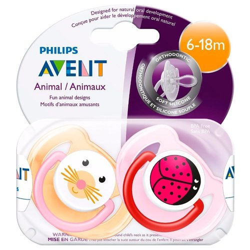 Пустышка силиконовая анатомическая Philips AVENT Classic SCF182/15 6-18 м (2 шт) розовый/оранжевый пустышка силиконовая анатомическая philips avent classic scf182 14 6 18 м 2 шт голубой зеленый