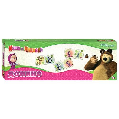Настольная игра Step puzzle Домино Маша и Медведь (Анимаккорд) настольная игра step puzzle домино disney тачки 80107