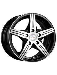 Диски Racing Wheels H-458 6,5x15 5x105 D56.6 ET35 цвет BK/FP - фото 1