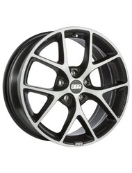 Диски BBS SR 8,0x18 5x100 D70 ET48 цвет Vulcano grey black diamond cut - фото 1