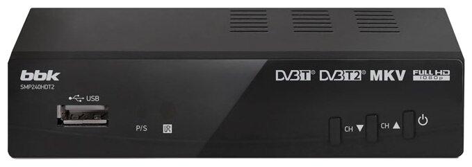 Ресивер DVB-T2 BBK SMP240HDT2S (темно-серый)