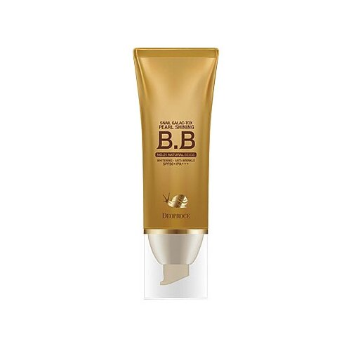 Deoproce BB крем Snail Galac-tox Pearl Shining, SPF 50, 40 г, оттенок: 21 natural beige deoproce bb крем magic spf 45 60 мл оттенок 23 sand beige