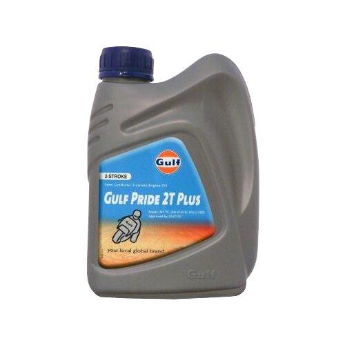Моторное масло Gulf Pride 2T Plus 1 л масло dde 1l синтетическое red ss 2t для 2 х тактных двигателей