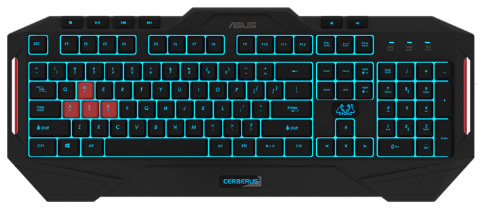 Клавиатура ASUS Cerberus MKII Keyboard Black USB