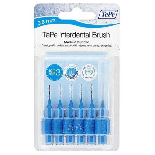 Зубной ершик TePe Original 3, blue, 6 шт.