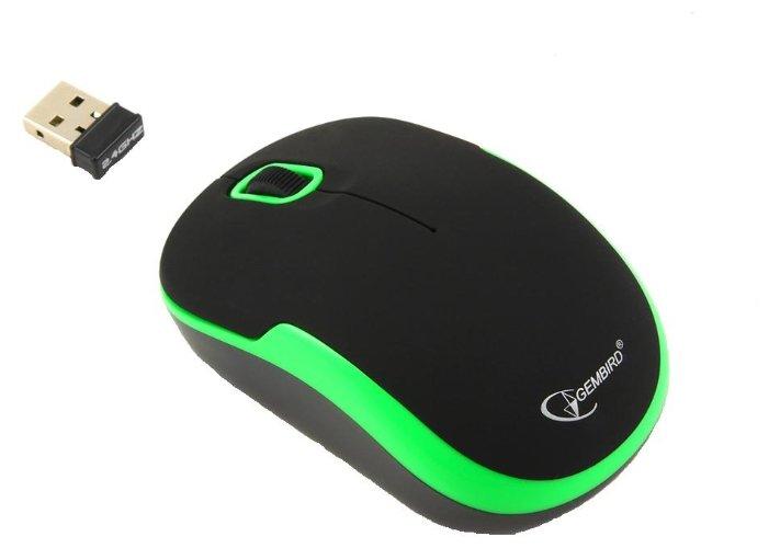 Мышь Gembird MUSW-200 Black-Green USB