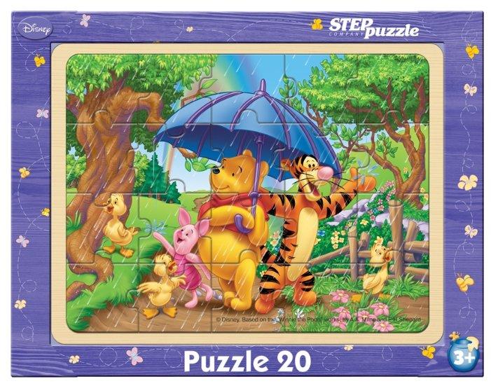 Рамка-вкладыш Step puzzle Disney Винни и его друзья (89123), 20 дет.