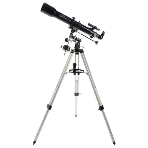 Фото - Телескоп Celestron PowerSeeker 70 EQ черный/серый телескоп celestron powerseeker 80 eq салфетки из микрофибры в подарок