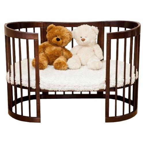 Купить Кроватка Красная Звезда Паулина-2 С422 (трансформер), продольный маятник шоколад, Кроватки