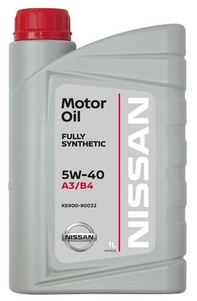 Моторное масло NISSAN, SN/CF/A3/B4, класс вязкости 5w40, 1 л