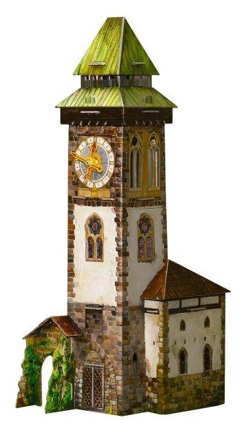 Сборная модель Умная Бумага Башня с часами (277)