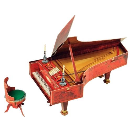 цены Сборная модель Умная Бумага Рояль на шесть с половиной октав из гостиной домика Нащокина (425) 1:12
