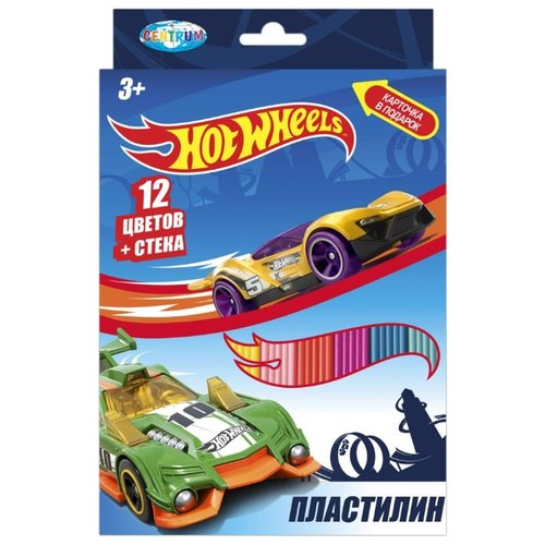 Пластилин CENTRUM Hot Wheels 12 цветов (88620) пластилин centrum фиксики 12