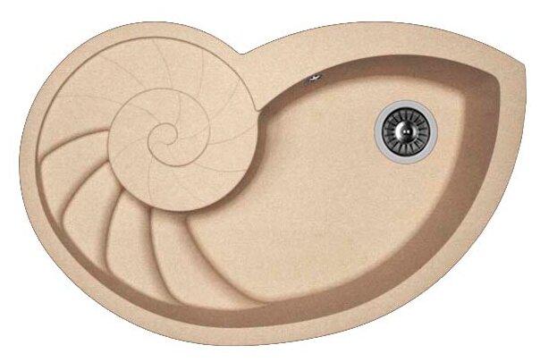 Врезная кухонная мойка FLORENTINA Наутилус 82х52.5см искусственный гранит