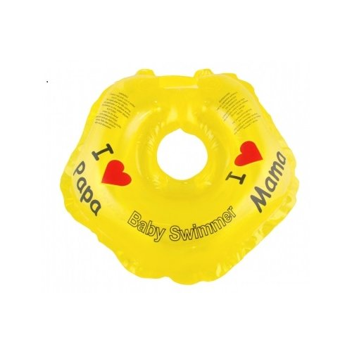 Купить Круг на шею Baby Swimmer 0m+ (3-12 кг) Я люблю желтый, Круги на шею
