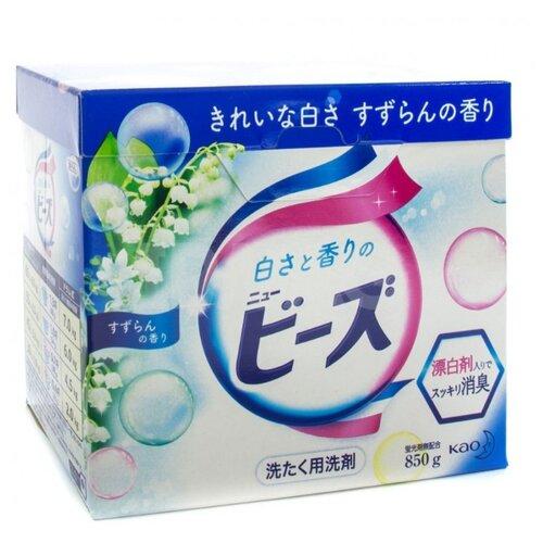 Стиральный порошок Attack New Fragrance Beads с ароматом ландыша 0.8 кг картонная пачка пятновыводитель kao attack haiter ex power кислородный 600 мл