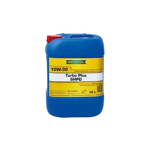 Минеральное моторное масло Ravenol Turbo Plus SHPD SAE 10W-30, 10 л минеральное моторное масло ravenol turbo plus shpd sae 15w 40 10 л