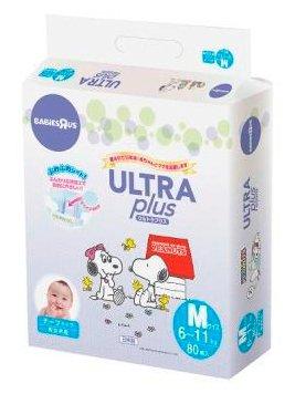Ultra Plus подгузники Snoopy M (6-11 кг) 80 шт.