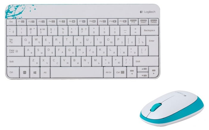 Клавиатура и мышь Logitech Wireless Combo MK240 White USB