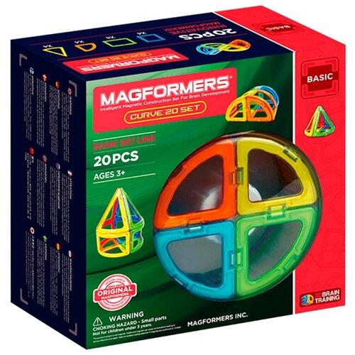 Магнитный конструктор Magformers Curve Basic 701010-20 magformers магнитный конструктор ice world 30 деталей magformers