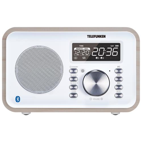 Радиобудильник TELEFUNKEN TF-1581UB белое дерево
