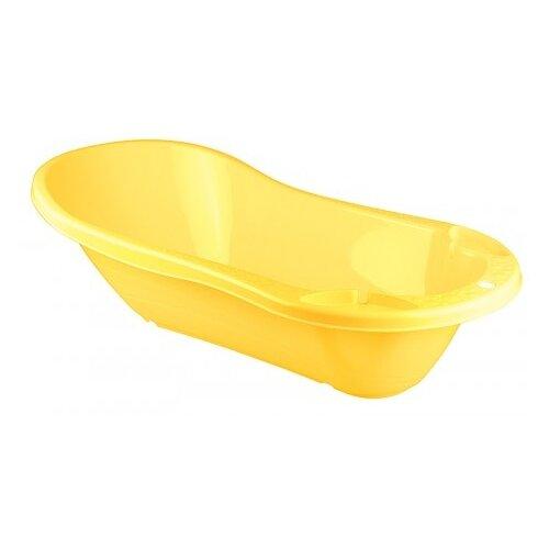 Ванночка с клапаном для слива воды Бытпласт желтый