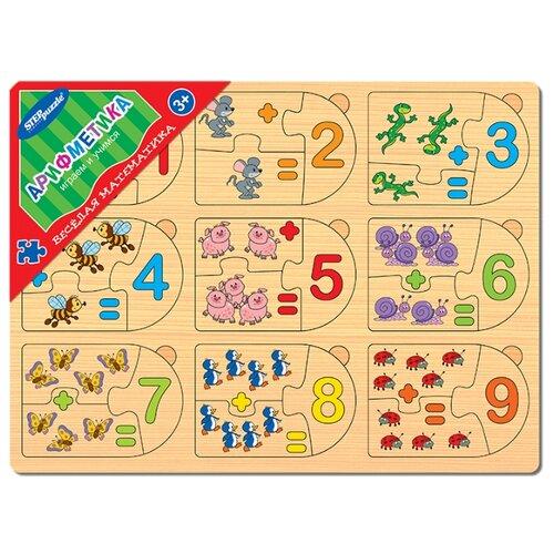 Рамка-вкладыш Step puzzle Весёлая математика Арифметика (89205), 27 дет. eglo 89205