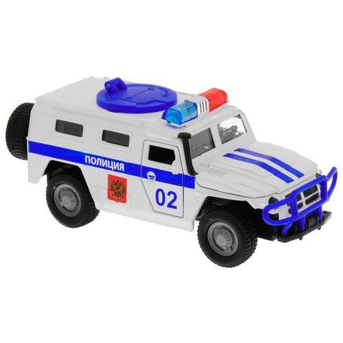 Купить Внедорожник ТЕХНОПАРК ГАЗ 2330 Тигр Полиция (CT12-357-N3) 1:43 белый, Машинки и техника