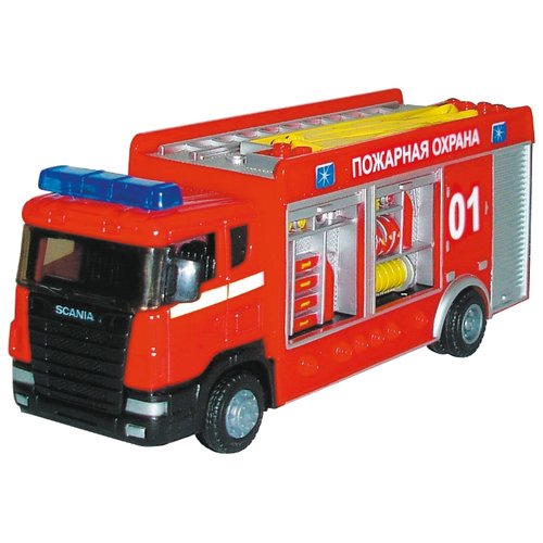 Купить Пожарный автомобиль Autogrand Scania пожарная спецбригада (10832-12/34204) 1:48 18 см красная, Машинки и техника