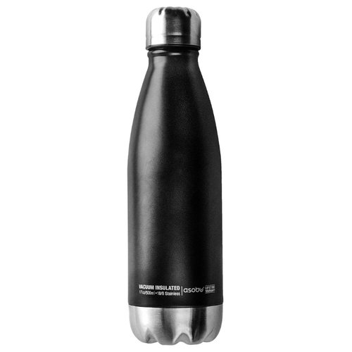 Термобутылка asobu Central park travel bottle (0,51 л) черный/серебристый термос фляга asobu central park