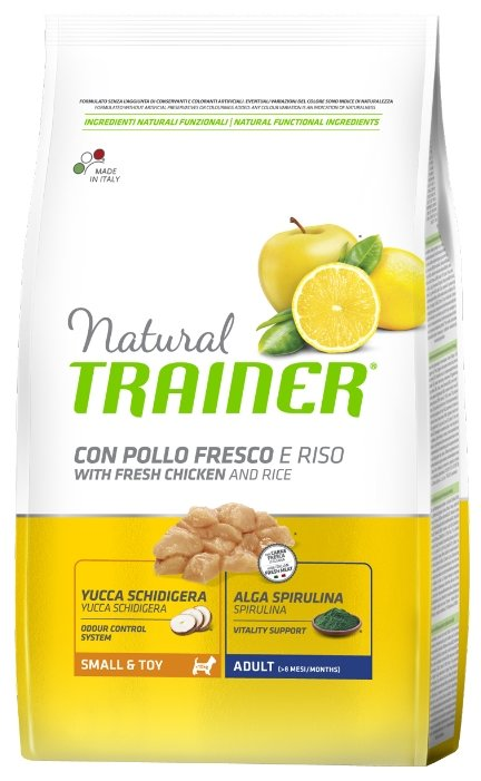 Корм для собак TRAINER Natural Adult Mini Chicken and rice dry