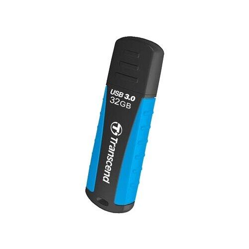 Флешка Transcend JetFlash 810 32Gb черный/голубой флешка transcend jetflash 560 32gb