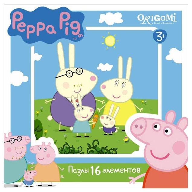 Пазл Origami Peppa Pig Семья кроликов (01577), 16 дет.