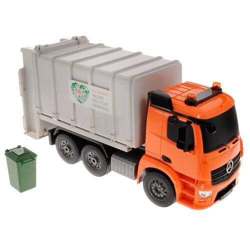 Купить Мусоровоз Pilotage Mercedes-Benz Antos (RC47816) 1:20 оранжевый/белый, Радиоуправляемые игрушки