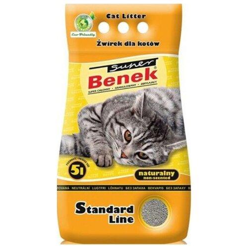 Комкующийся наполнитель Super Benek Натуральный 5 л комкующийся наполнитель super benek компакт натуральный 5 л