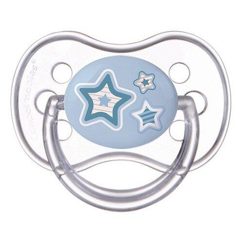 Купить Пустышка силиконовая классическая Canpol Babies Newborn Baby 0-6 м (1 шт) голубой, Пустышки и аксессуары