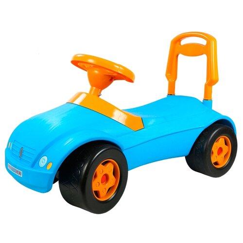 Купить Каталка-толокар Orion Toys Мерсик (016) со звуковыми эффектами голубой, Каталки и качалки